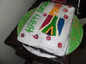 Happy Birthday Madiba cake